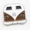 20MM Schulbus Auto Snap versilbert Mit Emaille Snap Button Überzogen