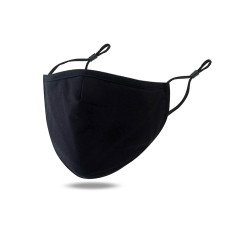 Pure color breathable, anti-smog and dust-proof black cotton mask with PM2.5 filter cotton mask