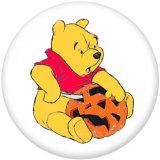 20MM Cartoon Halloween Dog Print Glasdruckknöpfe