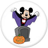20MM Cartoon Halloween Print Glasdruckknöpfe