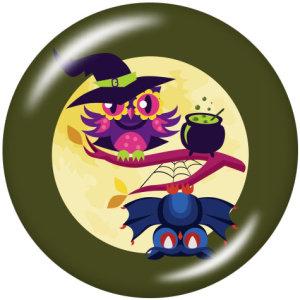 20MM  Halloween  Print   glass  snaps buttons