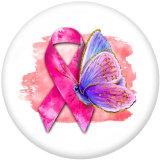20MM Ribbon Love Peace Butterfly Print Glasdruckknöpfe
