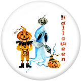 20MM  Halloween  bat  Print   glass  snaps buttons