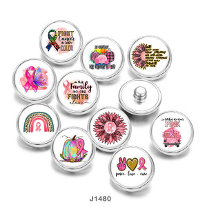 20MM  Ribbon  Love peace  Butterfly  Print   glass  snaps buttons