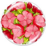 20MM  Flower  Print  glass  snaps buttons