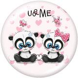 20MM  Cartoon  Unicorn  giraffe  Owl  Print  glass  snaps buttons