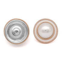 23MM Golden vintage British style button fit 20mm snap jewelry