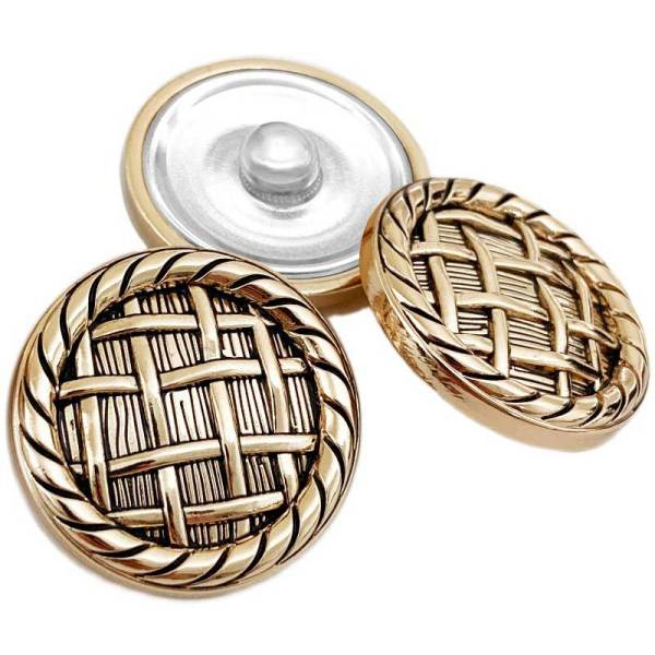 20MM goldener Ankerfischhaken im britischen Stil runder Knopf für 20mm Schnappschmuck
