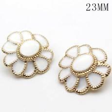23MM Golden metal flower drip button fit 20mm snap jewelry