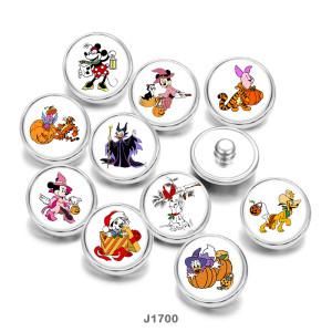 20MM  Cartoon  Halloween  Print   glass  snaps buttons