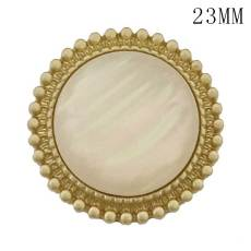 23MM Round shape golden shell fit 20mm snap jewelry