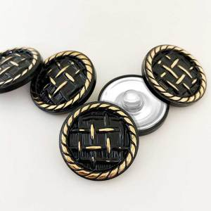 20MM Golden anchor fish hook British style round button fit 20mm snap jewelry