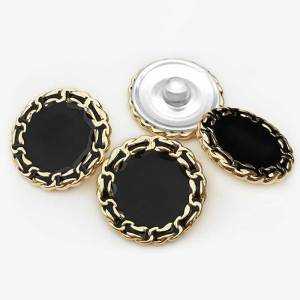 20MM Chain point oil metal button fit 20mm snap jewelry