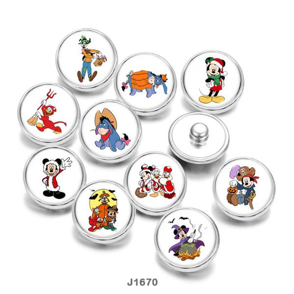 20MM  Christmas  Halloween Dog  Print   glass  snaps buttons