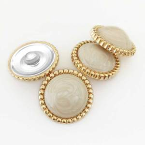 20MM Round shape golden shell fit 20mm snap jewelry