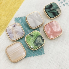 20MM Square golden shell fit 20mm snap jewelry