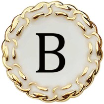 20MM Metallic gold 26 letters fit 20mm snap jewelry