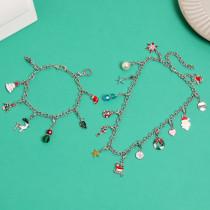 Weihnachtsschmuck Countdown Kalender Geschenkbox Set DIY Anhänger Cartoon Weihnachten Armband Halskette Geschenk