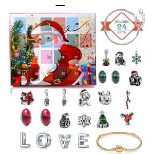 Christmas Ornament Calendar Gift Box Set diy Beaded Blind Box Christmas Bracelet Gift