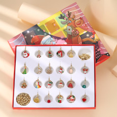 Weihnachtsschmuck Geschenkbox Countdown Kalender Geschenkbox Advent Golden Armband Halskette Blind Box Set