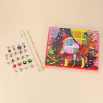 Weihnachtsschmuck Kalender Geschenkbox Set DIY Perlen Blind Box Weihnachtsarmband Geschenk