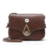 New all-match simple one-shoulder diagonal bag belt buckle small stereotyped bag fit 18mm chunks