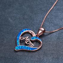 Liebe Herzförmige MOM Brief Anhänger Halskette Muttertagsgeschenk 45+5CM Halskette
