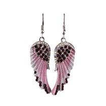 Angel Wings Wings Strass-Ohrringe mit mittellangem Anhänger