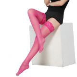 Sexy Strümpfe ultradünne sexy Beinbesatz dünne Spitze schwarze Strümpfe hohe Röhre passender kerngesponnener Seide