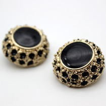 20MM Metal button pearl imitation shell fit 20mm snap jewelry