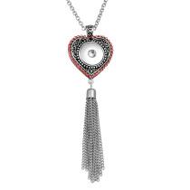 Collier 80CM chaîne en argent fit 20MM morceaux s'enclenche collier de bijoux pour les femmes
