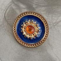 20MM Metal button enamel rhinestone gold fit 20mm snap jewelry