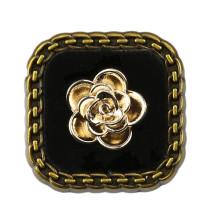 20MM Metal button Black rhinestone gold fit 20mm snap jewelry