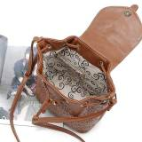 New hollow bucket bag belt buckle cover type hollow bucket diagonal bag fashion female bag fit 18mm chunks