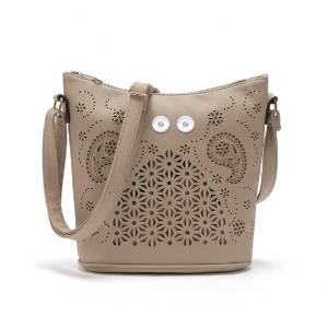 Beuteltasche vielseitige hohle Handtasche Mode große Kapazität Damentasche Umhängetasche diagonal für 18 mm Stücke