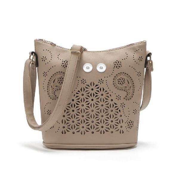 Bucket bag versatile hollow handbag fashion large capacity women's bag shoulder diagonal bag fit 18mm chunks