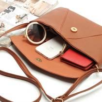 Sac enveloppe simple et généreux sac enveloppe couleur bonbon exquis sac messager à une épaule longue envergure pour des morceaux de 18 mm