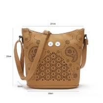 Sac seau polyvalent sac à main creux mode grande capacité sac pour femme épaule sac diagonal s'adapter à des morceaux de 18 mm