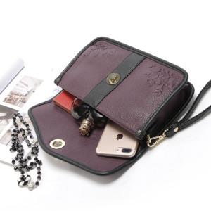 Großes Fassungsvermögen Damen Geldbörse lila Clutch große Clutch für 18mm Klumpen