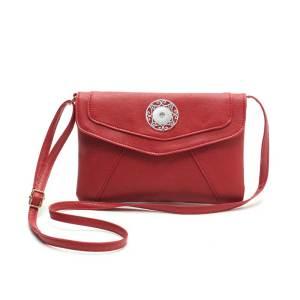 Umschlagtasche einfache und großzügige exquisite bonbonfarbene Umschlagtasche langspannige One-Shoulder-Messenger-Tasche für 18-mm-Stücke