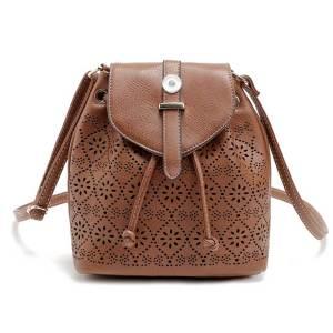 Neue hohle Eimertasche Gürtelschnalle Abdeckung Typ hohle Eimer Diagonaltasche Mode weibliche Tasche für 18mm Brocken