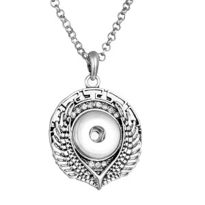 Halskette 80CM Kette silber fit 20MM Brocken Druckknöpfe Schmuckhalskette für Frauen