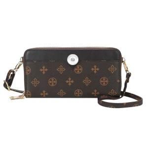 Women's Wallet Multi-card slot mid-length diagonal bag old pattern large-capacity zipper handbag fit 18mm chunks