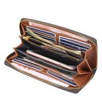 Damen Geldbörse Multi-Kartensteckplatz mittellange Clutch mit altem Muster große Kapazität Reißverschluss-Clutch für 18-mm-Stücke