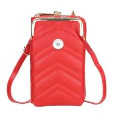 Sac de téléphone portable pour femme sac de messager à une épaule brodé de grande capacité, portefeuille vertical de mode pour des morceaux de 18 mm
