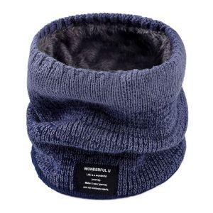Outdoor-Kragen-Lätzchen Wintermänner und -frauen plus samt dicker warmer gestrickter Wollschal für Erwachsene Herbst und Winter