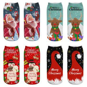 Новые носки из рождественских материалов Новые носки с 3d принтом Рождественские носки женские