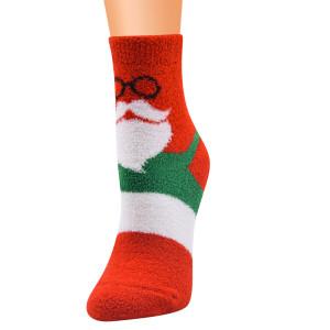Новые рождественские носки, женские носки, рождественские носки, носки Санта-Клауса из кораллового флиса, рождественские носки, женские носки