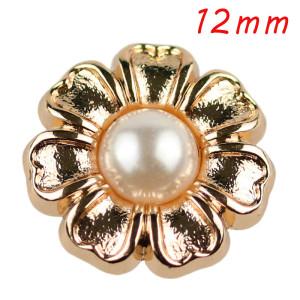12 мм высококачественные металлические жемчужные позолоченные шармы с кнопками подходят для ювелирных изделий с кнопками 12 мм