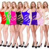 Sexy Dessous sexy Netzjacquard durchsichtiges Netzkleid Tasche Hüftrock Strapsrock